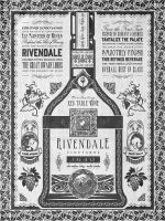 Lord of the Rings Rivendale Wine Vintage Geek Art by studiomuku