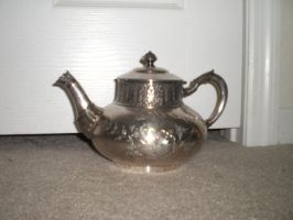 Vintage Silver Teapot by cerulean-stock