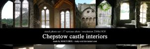 STOCK PHOTO PACK: Chepstow castle interiors by MAKY-OREL