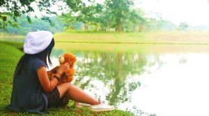 at lake with my riku doll by mikezipper