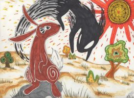 El-ahrairah and the Black Rabbit of Inle by TechnoClove