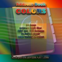 Address Book colors icons by Scaloperion