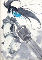 black rock shooter by Little-Roisin