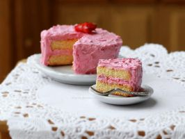 Strawberry Cake by Zhoira