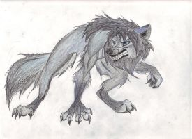 My Blue Werewolf by zimaro