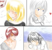 Mello, Near, Matt, L by KatsuyaCrimson