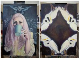 2 unfinished paintings by miloesque