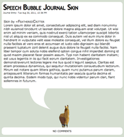 Speech Bubble Journal Css by ARegnant