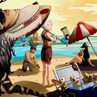 Bloodborne Beach Time by hello-hochee