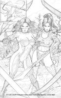 Jetta and Shi battle by martheus