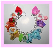 Rainbow care bear bracelet by False-desire