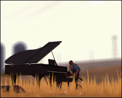 'Woodcutter and the piano' by NotisKate