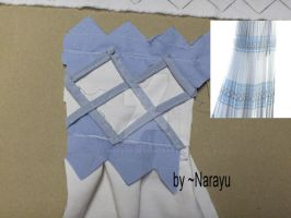Aerith skirt laces tutorial by Narayu