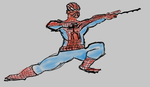 Spiderman - Colored Digital Drawing by tmd04