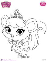 Princess Palace Pets Brie Coloring Page by SKGaleana