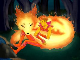 Fire Prince And His Fox by Revenge-penge