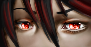 PS exercise - painting anime eyes and hair. by CatStudio7