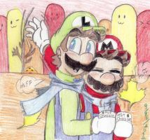 Mario Bros. In Autumn by Carurisa