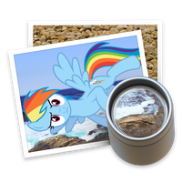Preview Rainbow Dash Yosemite Ponified Icon 2 by Falcotte