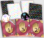 Gravity Falls Notebook and 2016 Planners by MyFebronia