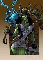 Frizzell She Hulk Colored by dendorrity