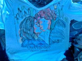 Outlander front of tee by fbforbill