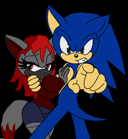 SonicxCrimson - Dont Touch My Girl! by LordVaatiXsis