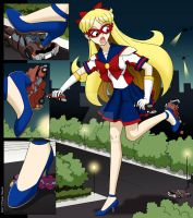 Sailor V Giantess by ArthurT2015