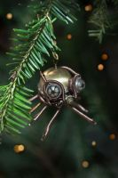 Steampunk Spider Christmas Ornament by CatherinetteRings