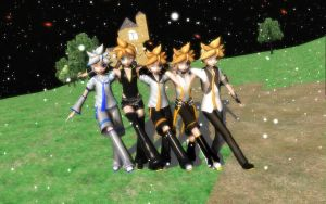 [MMD] We are Kagamine Len(s) the brothers! by segawa2580
