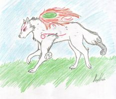 Okami Amaterasu by iNSaNITY-iNEviTABLE