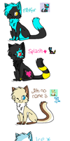 All my old and new (not nyanci) chars 8D by Teapawz