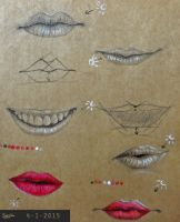 Mouth practice on paper by Zilverlovely