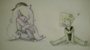 Amethyst and Peridot {-Colored-} by Phoenix-Wing-Art