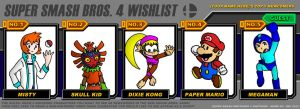 Streetgal's Super Smash Bros 4 wishlist by streetgals9000