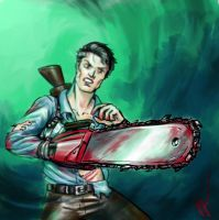Ash from Evil Dead by Perronegro300