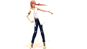 Serah non Skirt by WolfArchangel