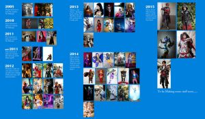 My cosplay Timeline 2005-2015 by LadyAngelus