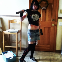 Halloween Zombie Hunter Cosplay (front view) by Spookyx12