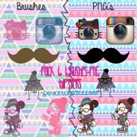 Brushes y PNG's Hipsters by ZuulWtf