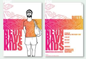 Neon Rave Kids flyer by DeeDeeKing