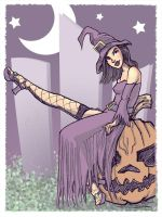 Halloween Witch Pin-up Girl by Spencey