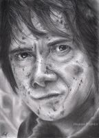 Bilbo Baggins (Pencil drawing) by LinaKaye