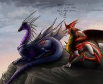 Dragonformers: TFP Soundwave and Knockout by JazzTheTiger