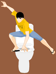 Percy Jackson:LORD OF THE TOILET by applevspumpkin