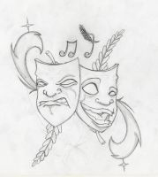 Funny Tattoo Sketch by DiggingUpTheCorpses