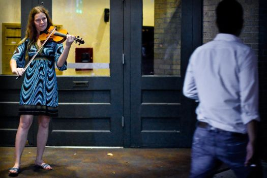 violinist by rotorelief
