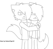 Anthro couple base :Read rules: by KatanaTiger42
