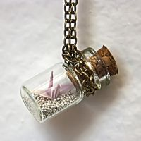 Origami Crane in bottle 2 by ayukat