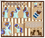 [COM] Chocoholly Reference Sheet by Kazziepones